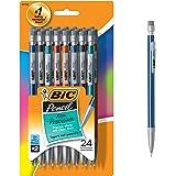 BIC Pencil Xtra Precision (Metallic Barrels), Fine Point (0.5 mm), 24-Count