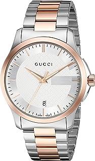 Gucci 瑞士石英不锈钢礼服双色男式手表(型号:YA126473)