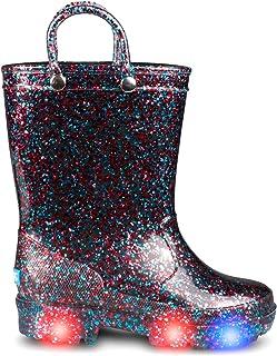 ZOOGS 闪光发光儿童幼儿雨靴 适合女孩