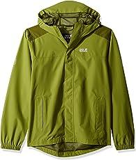 JACK WOLFSKIN 儿童 OAK Creek jacket 透气防水防风聚光灯户外天气保护, 雨衣雨夹克