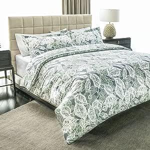 ashler 印花羽绒被套套件–磨毛超细纤维奢华舒适柔软舒适耐用*店品质
