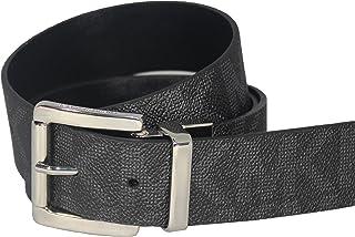 迈克高仕 Michael Kors MK Black Reversible Belt with Silver Buckle Size: L