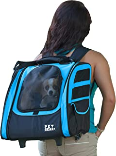 Pet Gear I-GO2 Traveler Roller Backpack for cats and dogs, Ocean Blue