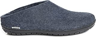 Glerups 中性款 BR-10-02 - 毛毡拖鞋,橡胶鞋底,51 M 牛仔布-黑色