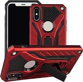 TPU + PC 混合纖薄護套適用于 iPhone X 和新 iPhone XS 的垂直/水平支架,櫻桃紅色設計