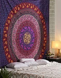 嬉皮挂毯 hippy mandala 波西米亚 tapestries 印度宿舍装饰迷幻挂毯挂民族装饰来自 rajrang