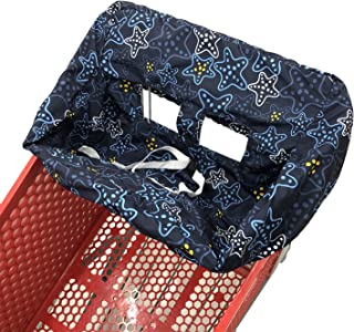 便携式 2 合 1 婴儿推车套和高脚椅套 Navy Blue Starfish