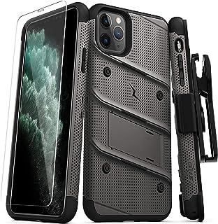 ZIZO Bolt 系列 iPhone 11 Pro Max 手机壳 - 重型*级防摔带支架皮带夹皮套钢化玻璃挂绳 Gun Metal Gray/Black