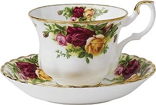 Royal Albert 古老乡村玫瑰茶杯茶碟套装