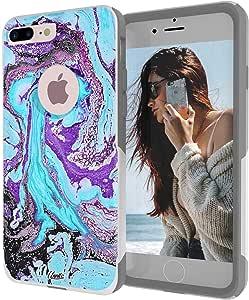 iPhone 7 PLUS 对称大理石大理石白色手机壳 Marble dream