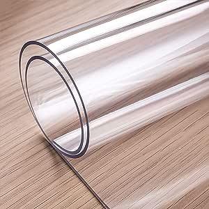 ostepdecor 定制版1.5mm 加厚*透明 PVC 桌布保护器办公桌垫垫门垫