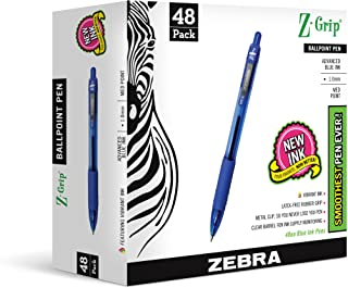 Zebra Pen Z-Grip Retractable Pen, 48-Pack, Blue (22248)