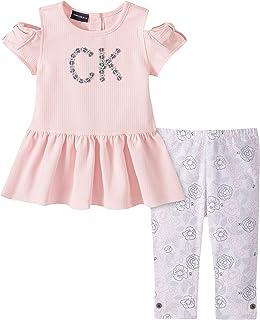 Calvin Klein 女童 2件套 上衣緊身褲套裝