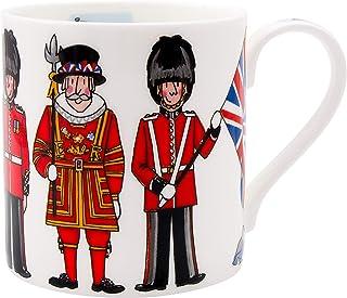 Alison Gardiner 著名插画 - 伦敦英国人形玩具精细骨瓷咖啡杯和茶杯 - 高品质和细节