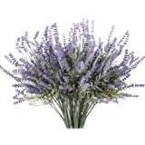 Butterfly Craze 人造薰衣草植物 带丝绸花朵 适合婚礼装饰和桌子中心装饰品 紫色 8 Piece Bundle FBA_14114757