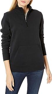 Amazon Essentials 女士标准法式厚绒布羊毛四分之一拉链上衣
