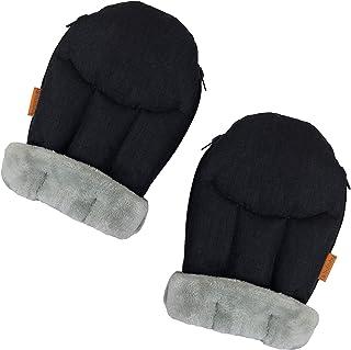 liuliuby CozyMitts - 防风雨婴儿车护手,婴儿车加热器手套适用于冰冻冬天 - 通用型 - 2019 新推出 黑色 Mélange