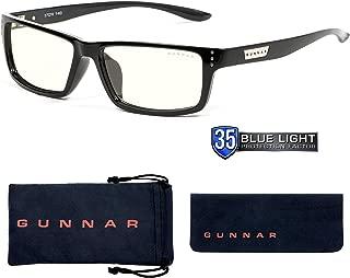 Gunnar Optiks RIO-00109 Riot 电脑眼镜带液体镜片,遮蔽蓝光,防眩光,*大程度减少数字眼部*,*更好,玛瑙/液