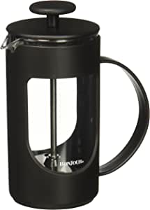 BonJour Coffee Unbreakable Plastic French Press, 12.7-Ounce, Ami-Matin(tm), Black