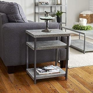 Household Essentials 8091-1 石板人造混凝土沙发桌 | Entryway 控制台桌