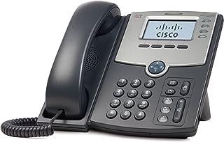 Cisco SPA504G 4 线 IP 电话带 2 端口开关,PoE 和 LCD 显示屏,银色,灰色(不含电源)