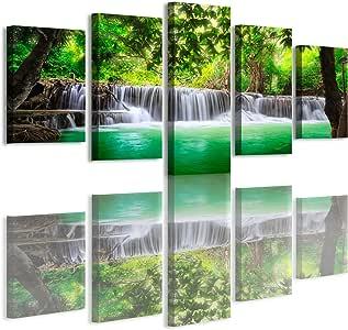 haichuang 装饰艺术5板框架瀑布帆布画墙饰