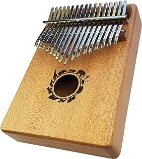 Kalimba 拇指钢琴 17 键 红木非洲风格 Mbira 便携式手指钢琴 适合儿童成人初学者