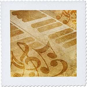QS 124764ANNE marie baugh 复古–vintge 钢琴配音符–方块拼布