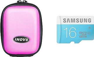 Inov8 紧凑相机套装包括 Inov8 手机壳和三星 16GB 标准 Micro SDHC Class 6 存储卡X-5103-902 硬壳 粉红色