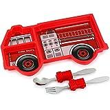 KidsFunwares UTU2HO0001 Me Time Fire Engine Dinnerware Set, Red