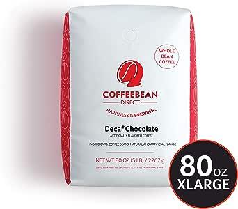 Coffee Bean Direct 低因 巧克力风味, 全豆咖啡, 5磅(约2.2kg)1袋