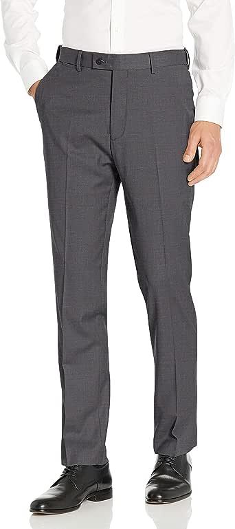Louis Raphael ROSSO 男士无褶可水洗弹力羊毛混纺连衣裙裤带舒适腰带 炭黑色 32W x 30L