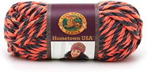 Lion Brand Yarn Hometown USA 纱线 Albquerque 橙色 1-包每包 1 条 135-404
