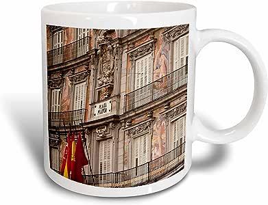 3drose danita delimont–马德里–西班牙,马德里, plaza 市长,建筑细节–eu27wbi0184–Walter bibikow–马克杯 白色 11-oz