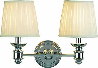 Eurofase 15556-011 Nadia 双灯浴杆,铬色/白色