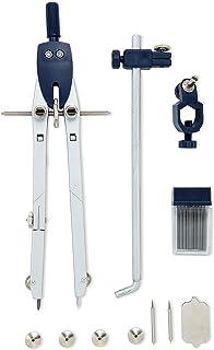 Mr. Pen- 带锁的专业指南针,直径*大 45.72 厘米,几何指南针、绘图指南针、精密指南针数学、指南针绘图、带轮指南针、金属指南针几何图形