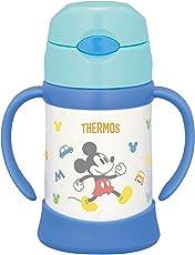 膳魔师 THERMOS 真空隔热宝宝用吸管杯 FHI-250DS 浅蓝色250ml 适用于9个月~ 保温瓶构造保冷防漏
