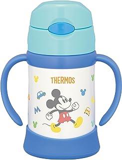 THERMOS 真空保温 宝宝用吸管杯  250ml 适用于9个月~ 保温瓶构造 保冷 防漏 FHI-250DS 浅蓝色