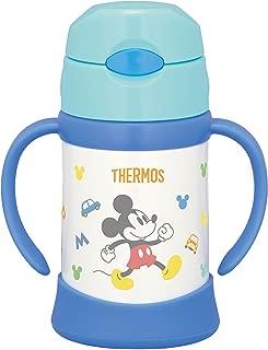 THERMOS 真空保溫 寶寶用吸管杯  250ml 適用于9個月~ 保溫瓶構造 保冷 防漏 FHI-250DS 淺藍色