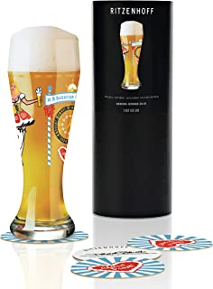Debora Jedwab的RITZENHOFF 麦芽*瓶,水晶玻璃,500 毫升,带五个啤*盖