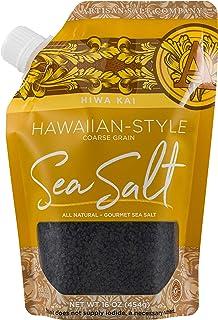 SaltWorks 古老海洋喜马拉雅粉色盐,精细,工匠倾倒袋,16盎司 Black Hawaiian (Coarse) 16盎司