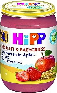 HiPP Frucht & Babygrie? Erdbeeren in Apfel-Grie?, 6er Pack (6 x 190 g)