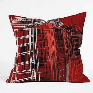 DENY Designs Aimee St Hill Phone Box Throw Pillow, 18 x 18