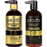 PURA D'OR 高级洗发水 & 空调系统系统,16液量盎司