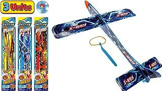 JA-RU 大型悬挂滑翔机飞翔弹簧三角飞机玩具 14 英寸(3 件装)派对用品户外玩具游戏泡沫飞机*礼品玩具适合儿童和成人吊带飞翔 I 5816-3 3 Units Delta Sling Glider