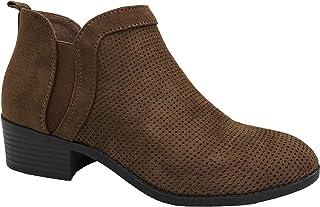 City Classified 舒适女式及踝短靴 V 型低粗跟