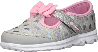 Skechers Kids Womens Go Walk - Bitty Heart 81162N (Infant/Toddler/Little Kid)