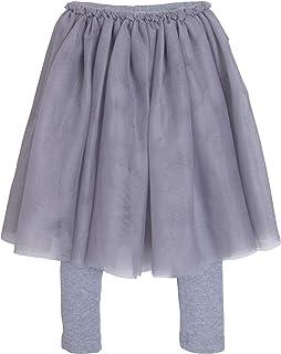ContiKids 女孩蕾丝荷叶边薄纱芭蕾舞短裙打底裤