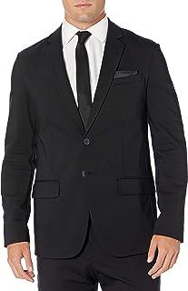 Calvin Klein 男士 Move 365 休闲抗皱高科技针织外套 黑色 Large