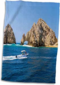 3D Rose El Arco-The Arch-Cabo San Lucas-Baja-Mexico-Sa13 Dpb0725-Douglas Peebles Towel, 15 英寸 x 22 英寸